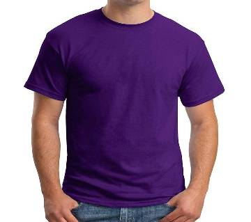 Purple Cotton T-Shirt For Men