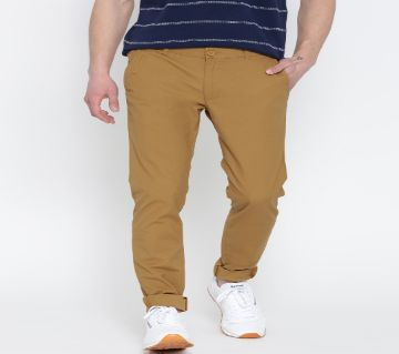 Khaki Gabardine Pants For Men
