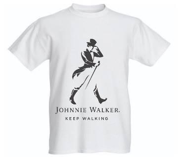 Jonnie Walker Printed Half Sleeve T-Shirt