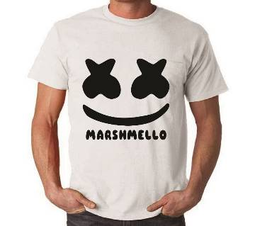 Marshmallow Printed Half Sleeve T-Shirt