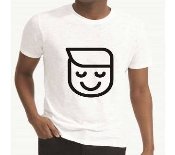 Smile Printed Half Sleeve T-Shirt