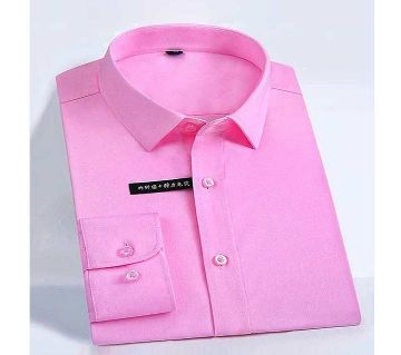 Fashionable Cotton Full Sleeve Shirt For Men - Pink