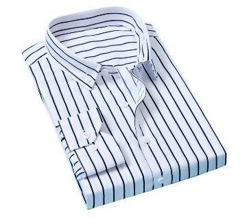 Fashionable Cotton Full Sleeve Shirt For Men - White