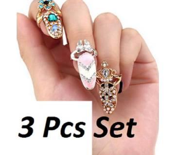 Nail Ring for Women-3 Pcs Set