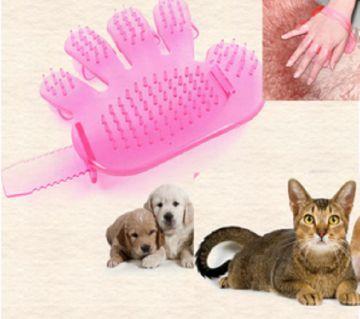 pet care brush gloves