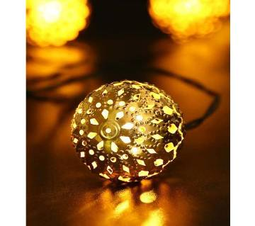 Ornamental Golden Ball Light
