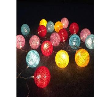 Cotton Ball Fairy Light