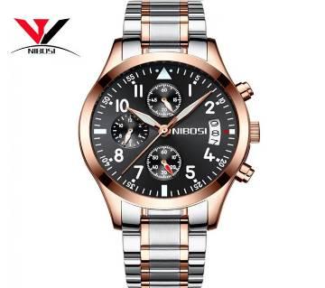 NIBOSI Ni-2303-A Mens Chronograph Quartz Wristwatch black