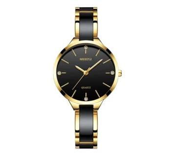 NIBOSI NI-2330 Ladies Creative Ceramic Bracelet Watches