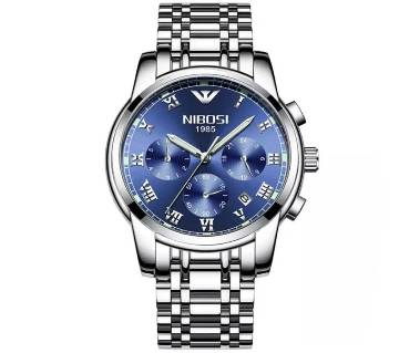 NIBOSI  NI-2301 Casual Quartz Watch Stainless Steel Ultra Thin Clock Male