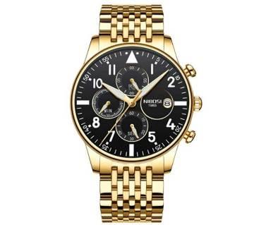 NIBOSI NI-2368 Waterproof Quartz Wristwatch Full Steel For Man