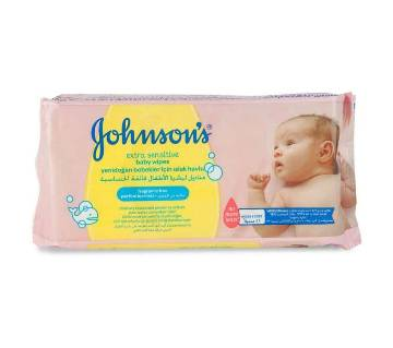 Johnsons Extra Sensitive Baby Wipes 56pc