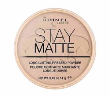 Rimmel London Stay Matte Light Coverage Pressed Powder - 5 Silky Beige-14g (UK)
