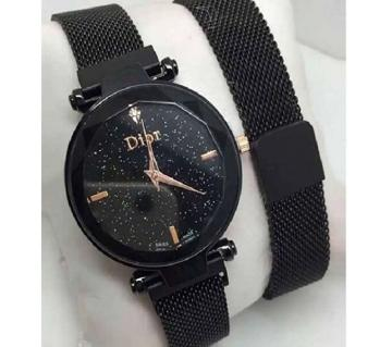 Dior Magnet Stainless Steel Wrist Watch for Women BLACK