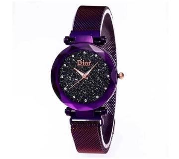 Dior Magnet Stainless Steel Wrist Watch for Women Purple