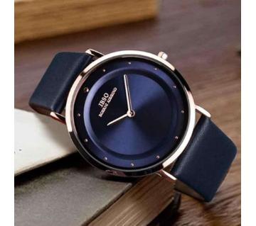 Leather Analog Watch for Men 2-black