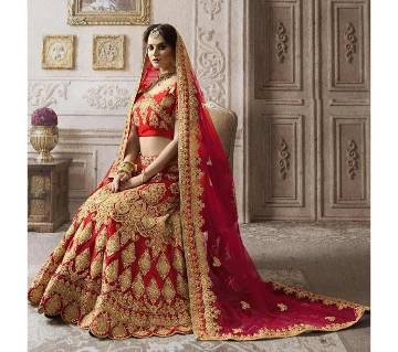 semi stitched Heavy Embroidery Georgette Lehenga  RF8397-red