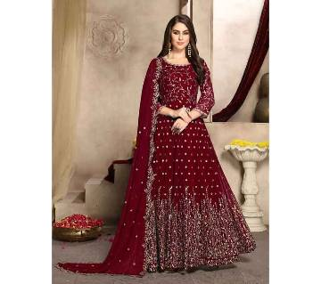 Semi stitched Georgette Gown -RED   RF9398A