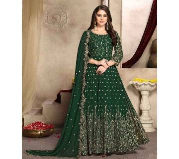 Semi stitched Georgette Gown RF9398E-green