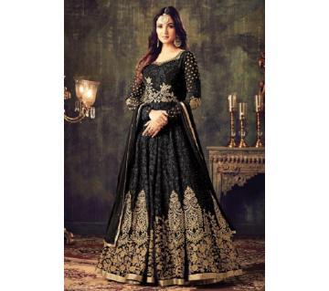 Georgette Unstitched Shalwar Kameez RF6166C-black