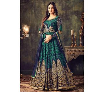 Georgette Unstitched Shalwar Kameez RF6166A-blue