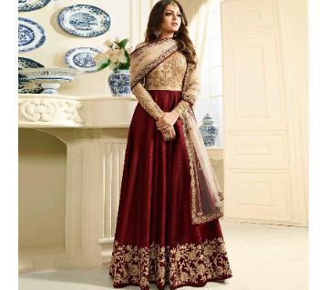 Georgette Unstitched Shalwar Kameez RF7679A 1-maroon