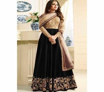 Georgette Unstitched Shalwar Kameez RF7679B-black