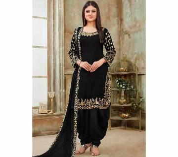 Georgette Unstitched Shalwar Kameez RF5599B 1-black