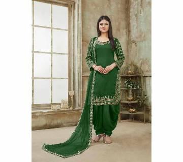 Georgette Unstitched Shalwar Kameez RF5599C 1-green