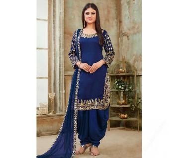 Georgette Unstitched Shalwar Kameez RF5599D2-blue
