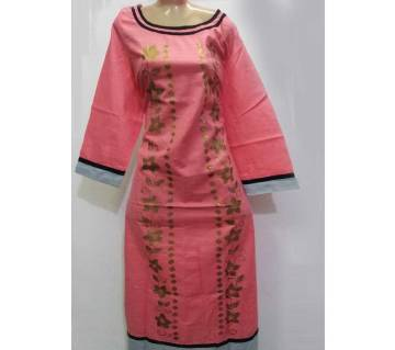Stitched hand print Kameez For women