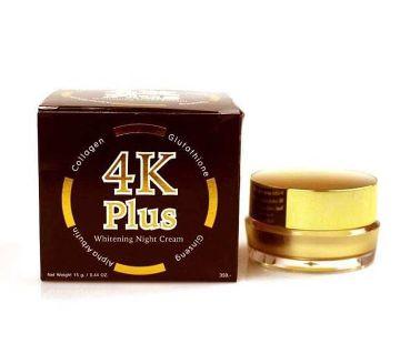 4K Plus Whitening Night Cream Made in Thailand 15 gm