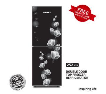 Linnex Refrigerator LNX-REF-252GD-TM-BLK Rose