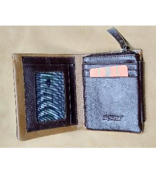 leather finishing wallet