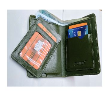 leather wallet for men-green