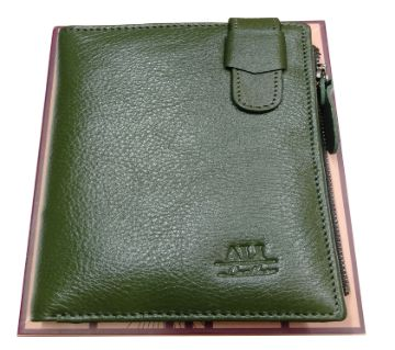 Mens Leather Wallet -green