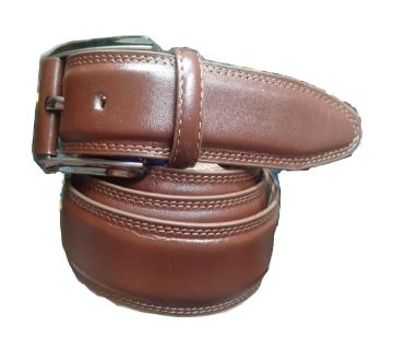 Leather belt for men   -golden
