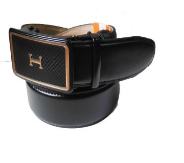 Mens Leather Belts Solid Buckle With Automatic Ratchet