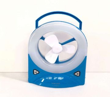 YJ-5826RF Portable rechargeable Fan with 30SMD LED Light - Blue and White