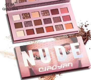 Qiaoyan 18color Nude Eye Shadow Palette Glitter Matte Eyeshadow Powder Waterproof