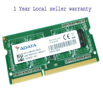 ADATA 4 GB Pc3l-12800 Ddr3l-1600 Laptop Memory RAM Ao1l16bc4r1-bsds