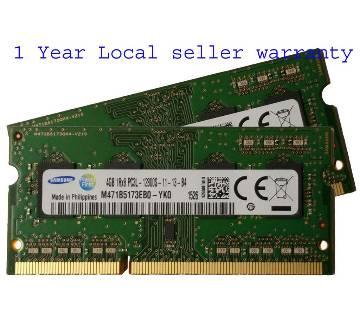 Samsung original 4GB ( 1 x 4GB ), 204-pin SODIMM, DDR3 PC3L-12800, ram memory module for laptop ( M471B5173DB0-YK0 )