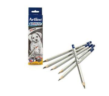 Original Artline Sketch Pencils Set (HB, 2B,4B, 6B,8B, 10B)