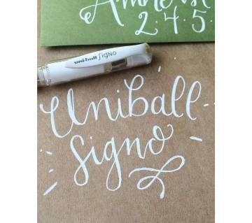 White Gel Pen Uni-Ball Signo White Pen White INK Pen pack of 2 pens