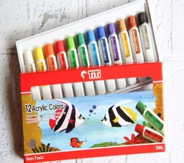 12 Acrylic Colors By Titi