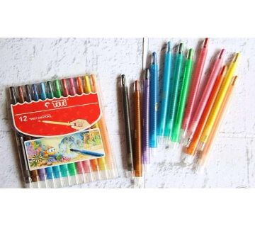 Titi Twist Crayons - 12Pcs MultiColour