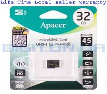 32GB MicroSDHC Card+ Adapter Cl-10 Acpacer