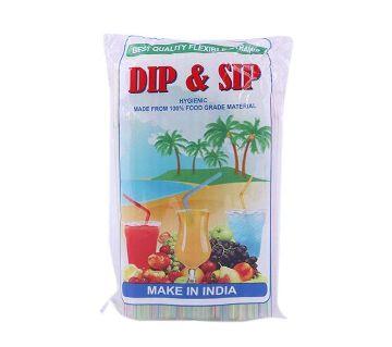 Dip and Sip Plastic Straws - 100pcs (Multicolor)