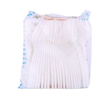 Disposable Plastic Spoon - 50pcs (White)
