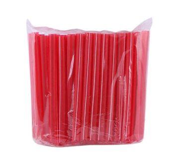 Plastic Straws - 100pcs (Red)